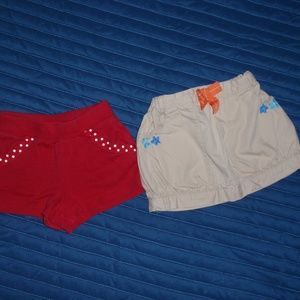Gymboree Girls Bundle of 2 Shorts Skirt 18m